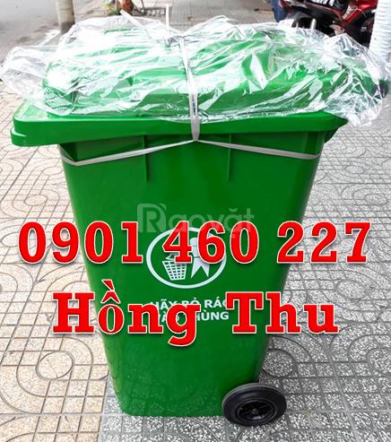 Thùng rác nhựa nắp kín 120 lít, thanh lý thùng rác 240 lít TPHCM
