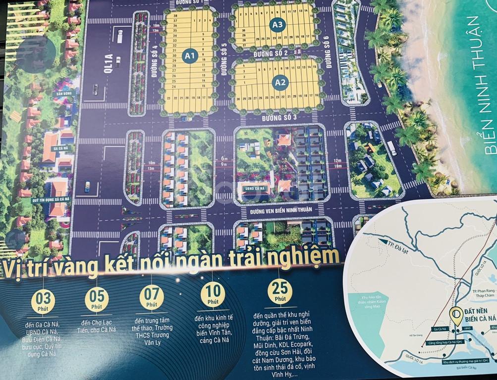 Đặt chỗ đất nền Cà Ná, Ninh Thuận gần dự án Mũi Dinh Ecopark sổ đỏ