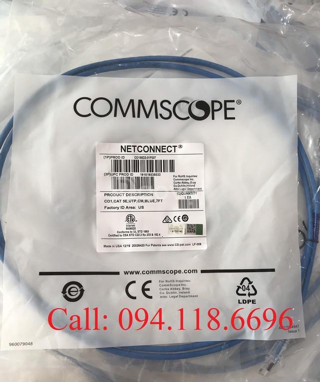 Patch Cord Commscope Cat5e 3m mã 1-1859239-0