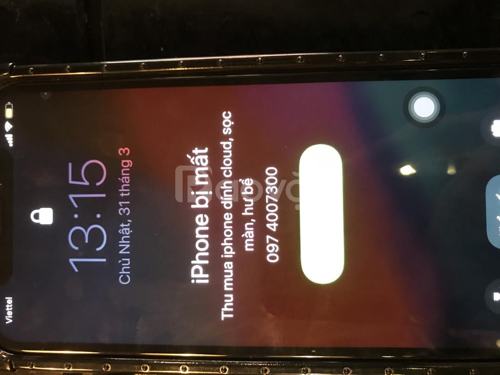 Thu xác iPhone dính icloud hư face id vô nước