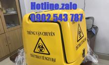 Thùng vận chuyển rác y tế, thùng chở rác thải y tế nguy hại gắn xe máy
