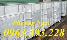 Tank nhựa IBC 1000L, bồn nhựa đựng hóa chất, thùng nhựa 1 khối cũ mới
