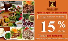 Khai trương Nhà hàng Quán Dê Ngon giảm giá sốc 15%