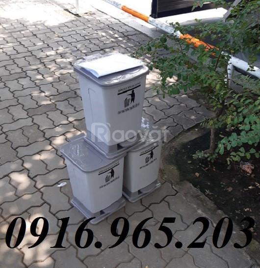 Ưu đãi thùng đựng rác y tế xám 15l
