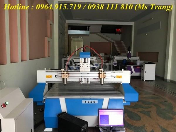 Máy cnc đục gỗ, máy CNC 1325 - 2 đầu cắt giá rẻ Hà Nội