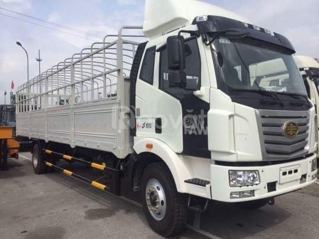 Xe tải faw 7.3 tấn thùng dài 9m7 chuyên chở hàng bao bì giấy, mút xốp