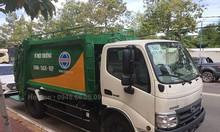 Xe cuốn ép rác HINO 5 khối thùng vuông INOX - Vay 80%