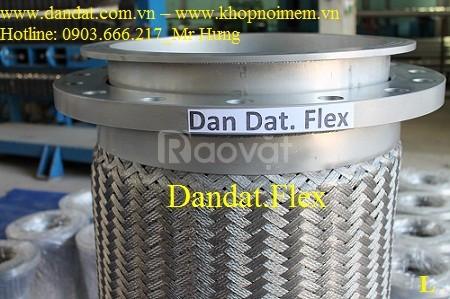 Khớp nối mềm chống rung, mối nối mềm kim loại, ống inox 304 nối bích