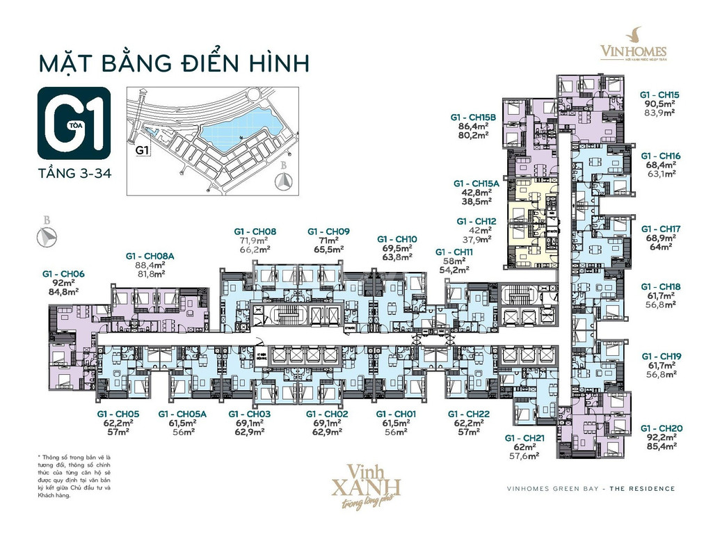 Bán nhanh căn 3 phòng ngủ hướng ĐB dự án Vinhomes Green Bay