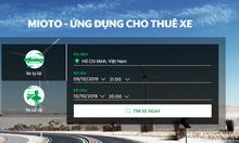 Thuê xe du lịch 4-7 chỗ giá tốt với ứng dụng Mioto