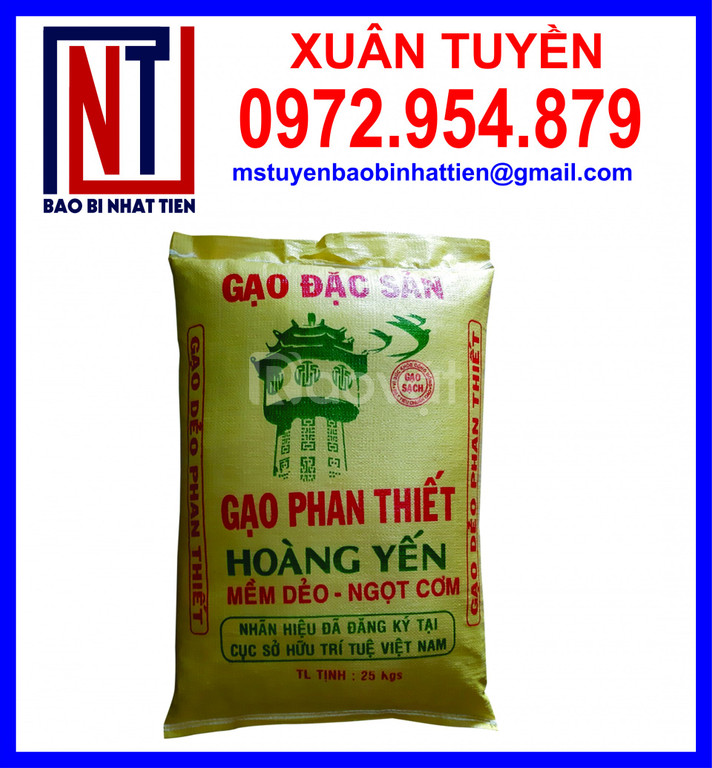 Bao bì gạo 25kg ghép màng OPP