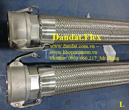 Khớp nối mềm nối bích chịu nhiệt dn65