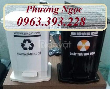 Thùng rác y tế đạp chân, thùng rác HDPE