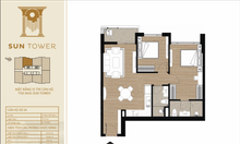 Căn hộ 2pn view hồ, dự án Tây Hồ Residence giá 2.8ty