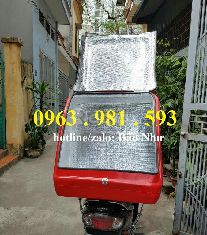 Thùng chở hàng sau xe máy giá rẻ, thùng chở hàng cỡ nhỏ