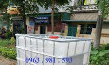 Tank nhựa 1000l, tank IBC, thùng nhựa 1000l, thùng nhựa 1 khối