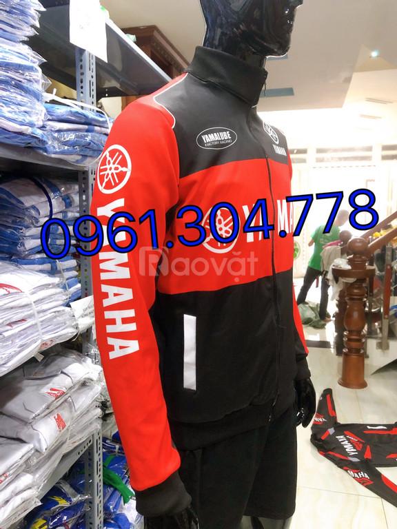 Áo khoác thể thao yamaha đen đỏ