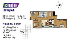 Đóng 50% nhận ngay căn hộ cao cấp 104 m2, 3PN 50%