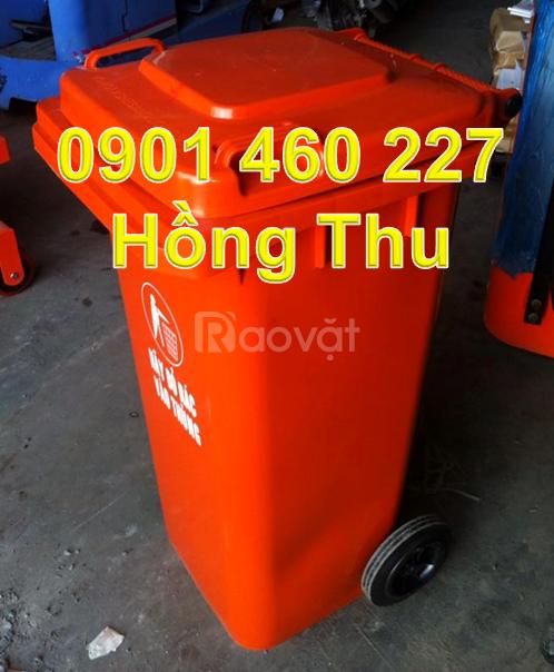 Bán thùng rác đạp 120 lít, thùng rác y tế 240 lít quận 10