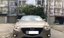 Cần bán xe Mazda 3 Sedan 1.5L AT, model 2017, màu vàng cát, như mới
