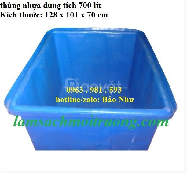 Thùng nhựa dung tích lớn, thùng nhựa công nghiệp giá rẻ
