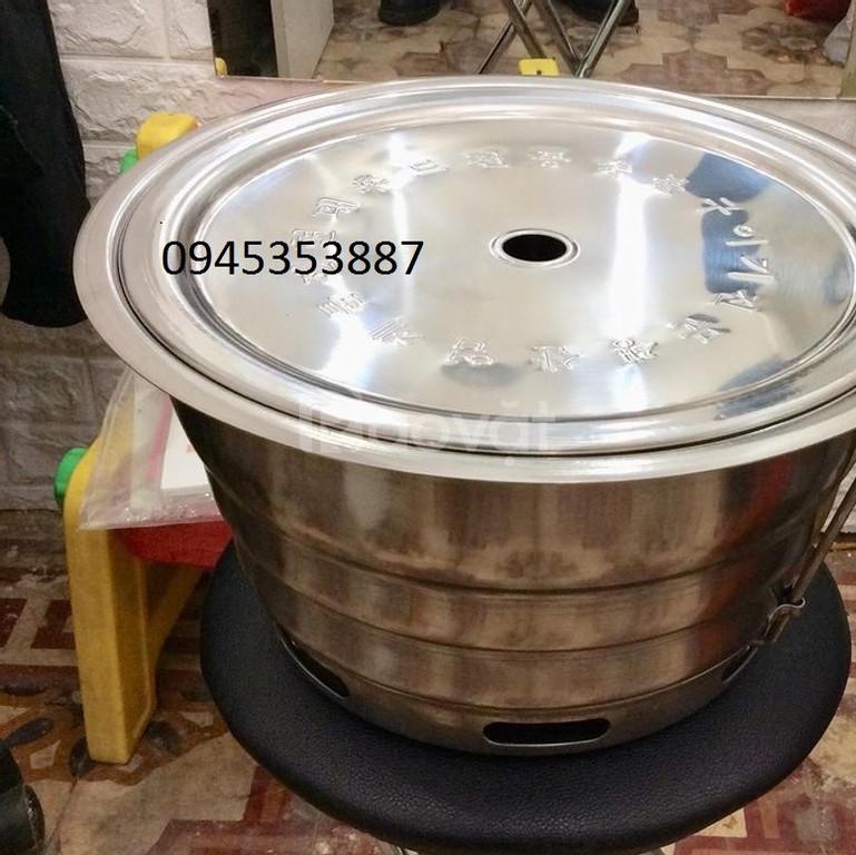 Bếp nương than hoa âm bàn không khói hút trên kèm vỉ inox 304