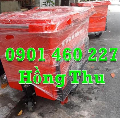 Bán xe thu gom rác 660 lít có gia cố khung sắt tại TPHCM