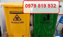 Thùng rác 10 lít đạp chân y tế màu vàng