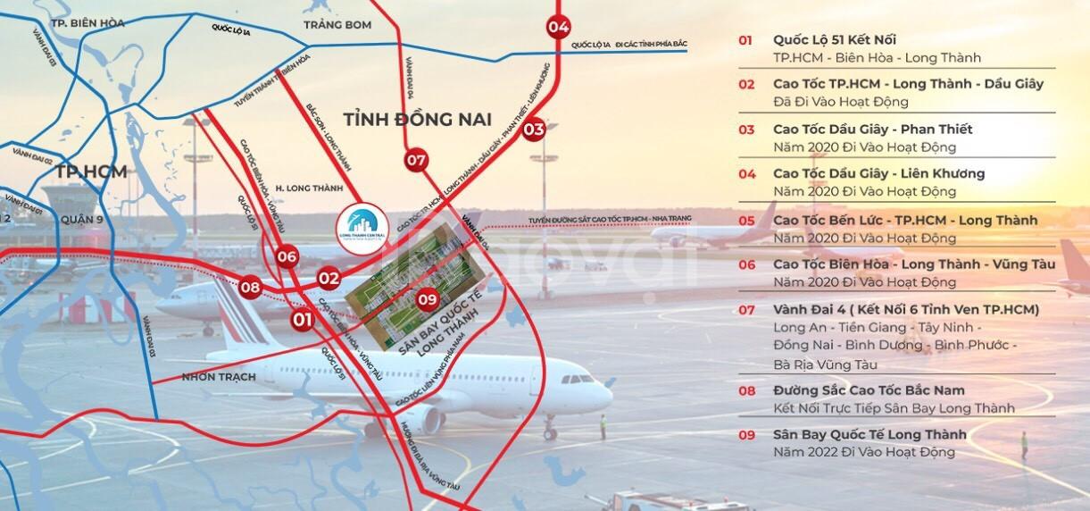 Đất nền giá rẻ - liền kề sân bay quốc tế Long Thành