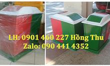 Thùng rác 3 màu, chuyên sản xuất thùng rác 3 ngăn nhựa composite