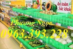 Sọt nhựa trưng bày hàng hóa, sóng nhựa đựng trái cây rau củ quả