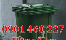 Thùng chứa rác thải 120 lít, thùng đẩy rác 2 bánh xe 240 lít