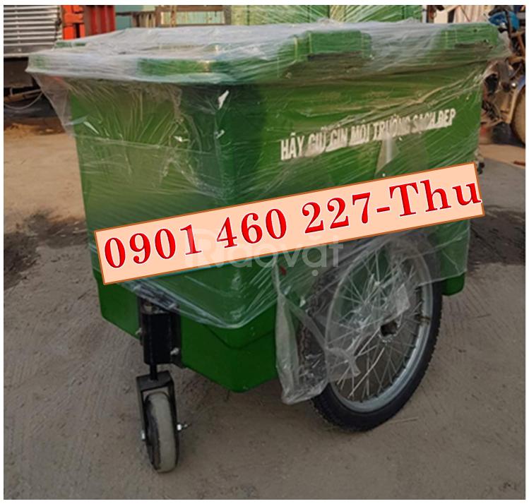Xe thu gom rác giá rẻ 660 lít,xe thu gom rác 1000 lít giá rẻ tại TPHCM