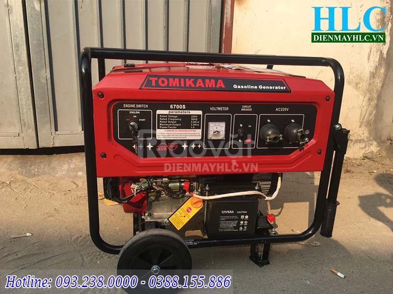 Đại lý máy phát điện chạy xăng Tomikama chính hãng