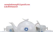Xưởng in logo bộ tách trà, ấm chén, bộ bàn ăn ly sứ giá rẻ tại Đà Nẵng