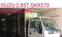 Isuzu 2.9 tấn thùng kín inox dài 4.4m, KM lên 18tr