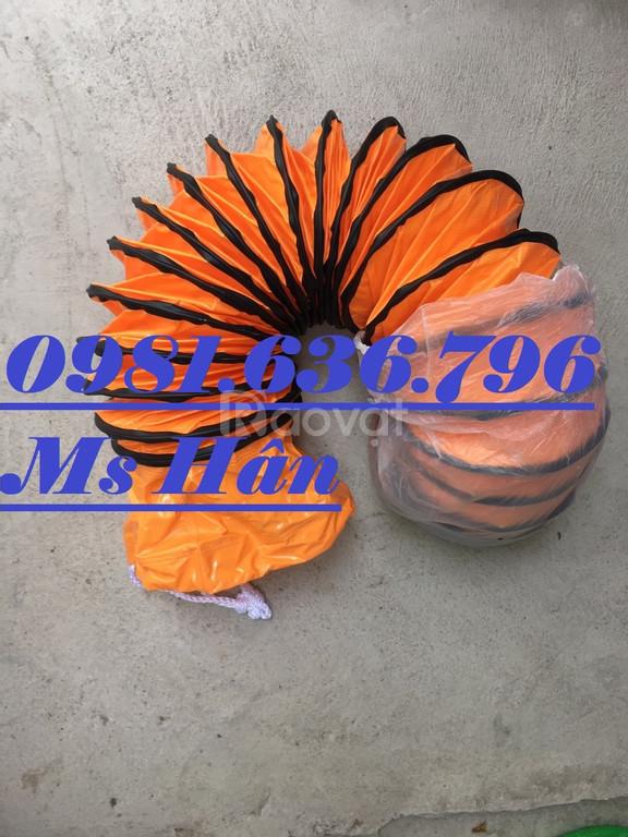 Ống gió mềm có lõi thép màu cam