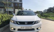 Cần bán xe Honda Civic 1.8 AT, đời 2015, màu trắng, biển HCM đẹp