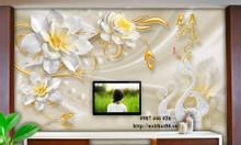Gạch tranh hoa ngọc 3d