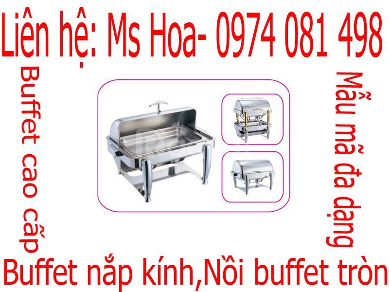 Nồi buffet nắp kính, dụng cụ buffet gía rẻ