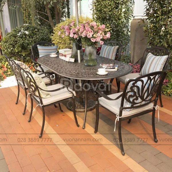 Bộ bàn ghế sân vườn Elip BG-03EN