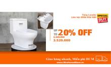 Bồn cầu basic - công nghệ châu âu - mua bồn cầu tặng lavabo