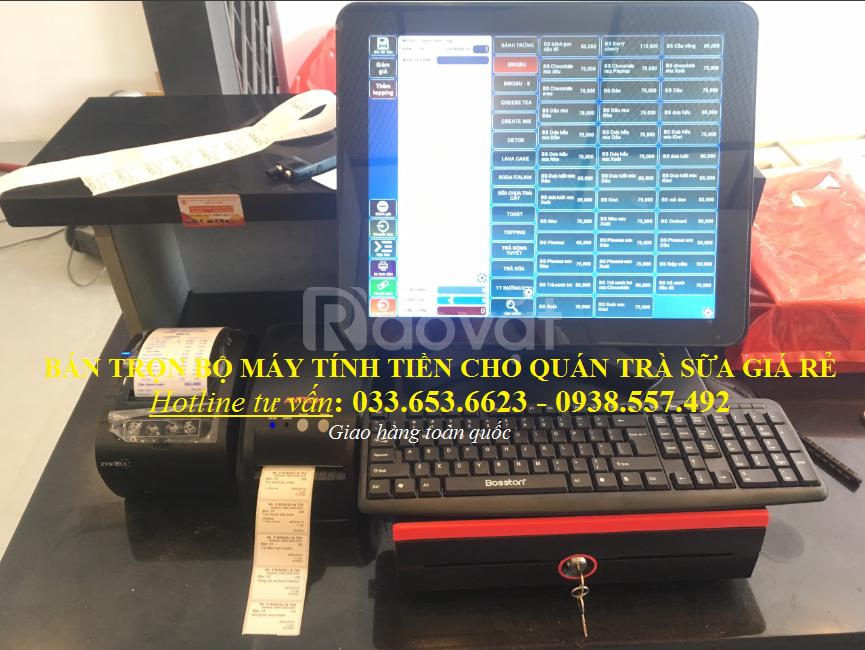 Bántrọn bộ máy tính tiền cho quán Trà Sữaở An Giang