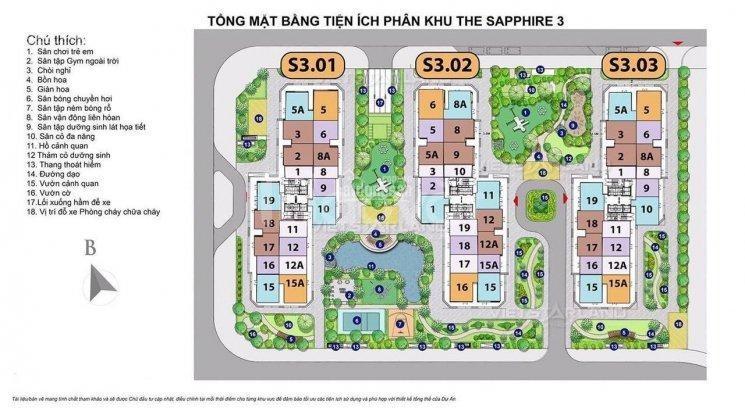 Vinhomes Smart City, căn góc 3PN view công viên 10.2ha, HTLS 0%