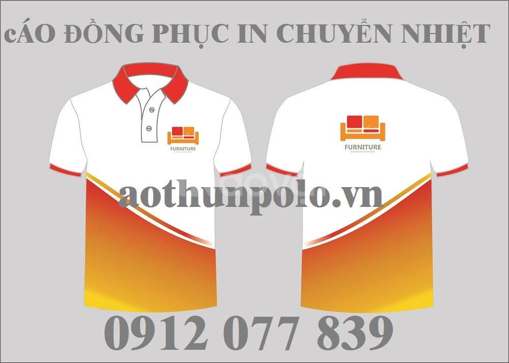 Áo thun đồng phục phối màu đẹp
