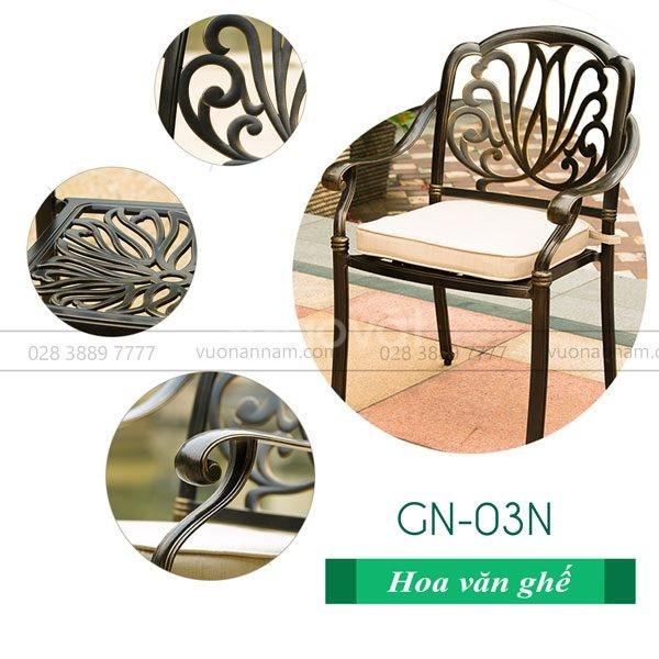 Bộ bàn ghế sân vườn BG-03TM nhập khẩu cao cấp