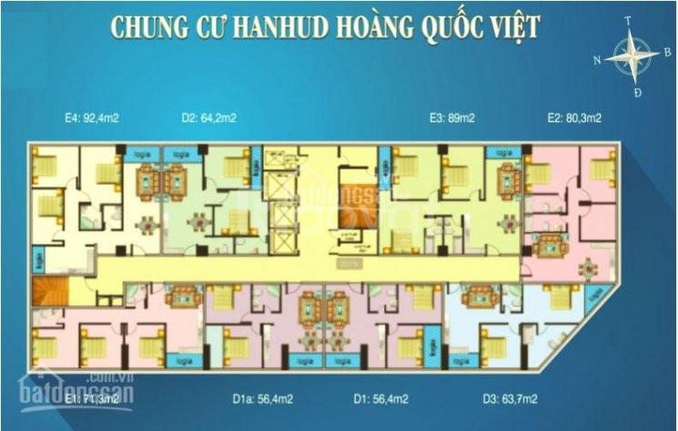 Bán chung cư Hanhud, ngõ 234 Hoàng Quốc Việt căn 3 phòng ngủ