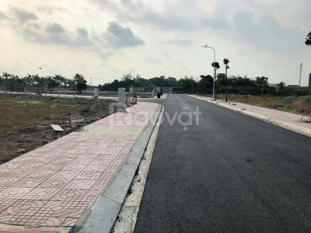 Đất KDC hạ tầng hoàn thiện ngay trung tâm thị trấn Hậu Nghĩa, 765tr/n