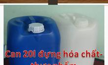 Can nhựa 20 màu trắng,vỏ thùng rỗng 20 lít,thùng xanh 20L đựng axit