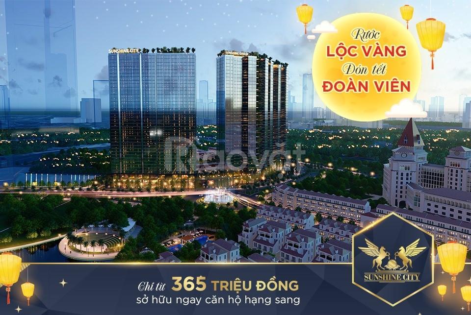 Chung cư Sunshine City Ciputra NT cao cấp dát vàng chỉ từ 3.8tỷ/3PN